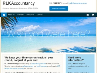 Screenshot of www.rlkaccountancy.co.uk